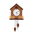 beautiful cuckoo-clock isolated on white vector image
