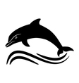 black dolphin silhouette vector image vector image