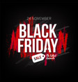 black friday sale banner template for web print vector image
