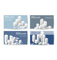 business card templates real estate vector image