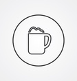 cappuccino outline symbol dark on white background vector image vector image
