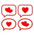 cartoon love messages set vector image