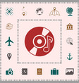 cd dvd with music symbol icon elements for your vector image vector image