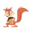 chipmunk nut cartoon icon vector image vector image