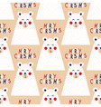 christmas seamless pattern with image a bear vector image vector image