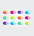 colorful switch set buttons with numbers vector image vector image