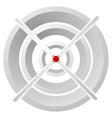 cross hair target mark circular reticle vector image