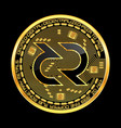 crypto currency decred golden symbol isolated on vector image