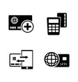 direct payments simple related icons vector image