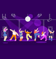 disco people banner template nightclub design vector image