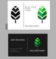 emblem of green tree vector image vector image
