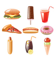fastfood vector image vector image