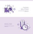 finding solutions and deadlines business concept vector image