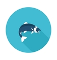flat icon fish vector image vector image