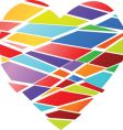 fractured heart vector image vector image
