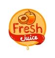 fresh juice emblem 6 vector image vector image