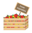 fresh vegetables in a box vector image vector image