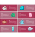 garnet turquoise malachite quartz agate diamond vector image vector image