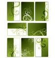 green floral designs vector image vector image