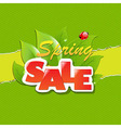 Green Torn Paper Borders And Spring Sale Banner vector image vector image