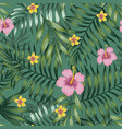 green tropical seamless pattern leaves vector image vector image