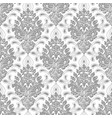 grunge damask seamless pattern background vector image