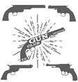 Gun Club Design Elements vector image vector image