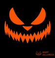 halloween scary pumpkin template vector image