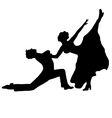 High quality pair dancing isolated on white vector image vector image