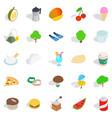 house on the farm icons set isometric style vector image vector image