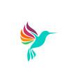 hummingbird logo design template vector image vector image