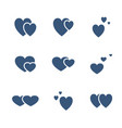 icon set valentines day love sign vector image vector image