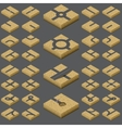 isometric road kit vector image vector image