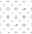 joy icons pattern seamless white background vector image vector image