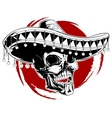 mexican skull tattoo vector image vector image