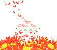 mothers day with sunflowers and butterflies vector image vector image