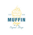 muffin logo original design estd 1978 emblem for vector image vector image