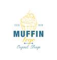 muffin logo original design estd 1978 emblem vector image vector image