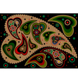 Paisley on black background vector image vector image