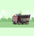 police van armored special forces vehicle swat on vector image