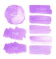 purple watercolor background vector image vector image