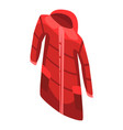 red coat icon isometric style vector image