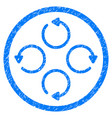 rotation rounded grainy icon vector image vector image