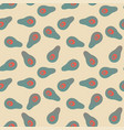 seamless abstract avocado pattern vector image