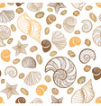 seashell seamless pattern summer holiday marine vector image