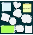 set different stickers vector image vector image