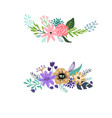 set floral bouquet isolated on white background vector image vector image