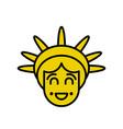 statue of liberty emoji sightseeing america happy vector image