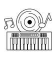 synthesizer vinyl music festival on white vector image