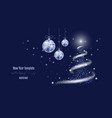 template for new year or christmas project snow vector image vector image